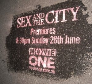 Street Promotions Footpath Art Sex and the City