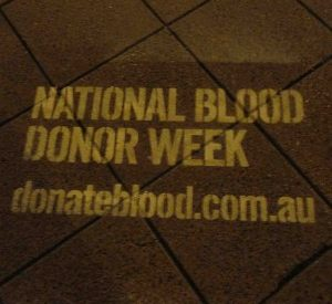 Street Promotions Australia Footpath Art National Blood Donor Week