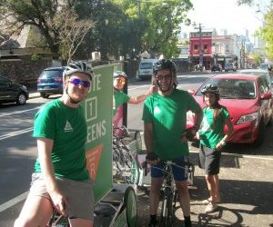 Street Promotions Enviro Cycle Ad Pods Vote Green 2