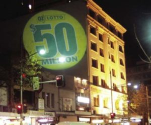 Street Promotions Light Projections OZ Lotto