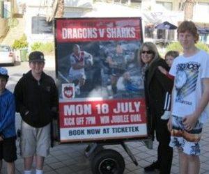 Street Promotions Trike 4 Media Dragons vs Sharks