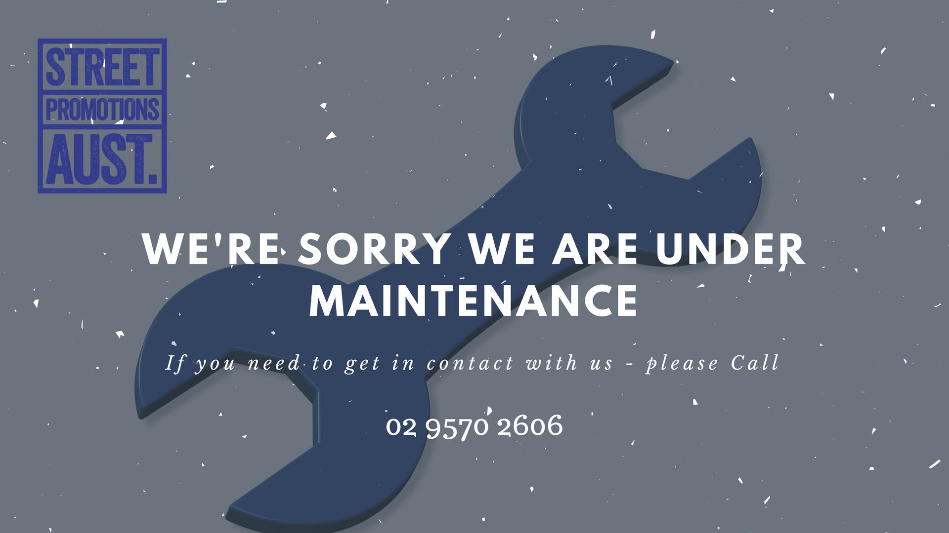 Street Promotions Website Under maintenance