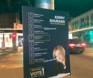 Kerry Sourasis Campaign corflute